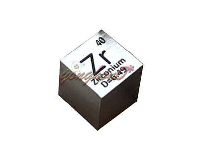 99.2% High Purity Zirconium  Metal ZR 6.44g Carved Element Periodic Table 10mm