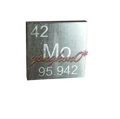 99.9% High Purity Molybdenum Metal MO 10.5g Carved Element Periodic Table 10mm