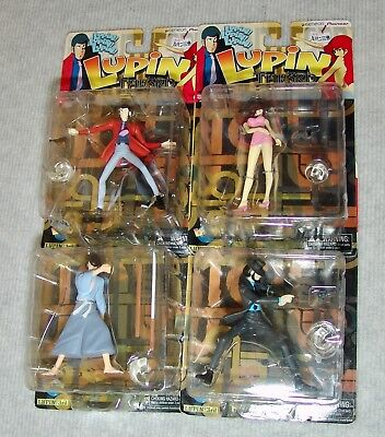 NEW TOYCOM/YAMATO Lupin The 3rd FULL SET OF 4 FIGURES  USA SELLER