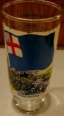 Vintage 1973 Coca Cola The Bunker Hill Flag Heritage Series Drinking Glass Coke