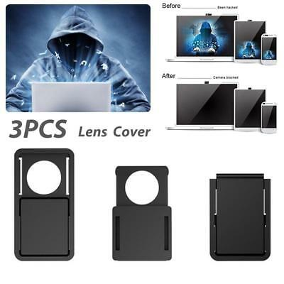 3Pcs/Packs WebCam Shutter Cover Web Camera Secure Your Privacy Protection-Black