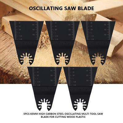 5 Pack 65mm Oscillating Multi Tool Saw Blades Carbon Steel Cutter DIY Universal