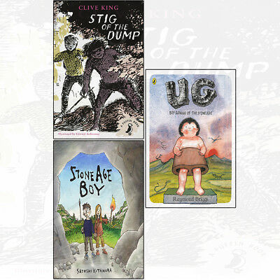 Stig of Dump Stone Age Boy Boy Genius of Stone Age 3 Books Collection Set NEW