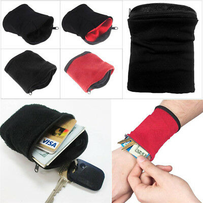 5pcs Wrist Wallet Hiking Pouch Fitness Band Wristbands Travel Cycling Sport