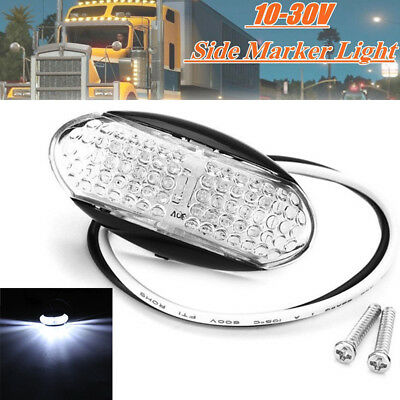 1x White 4LED Side Marker Indicator Light For Car Auto Truck Trailer Lorry