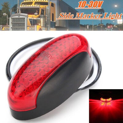 1x Red 4LED Side Marker Indicator Light For Car Truck Auto Trailer Lorry