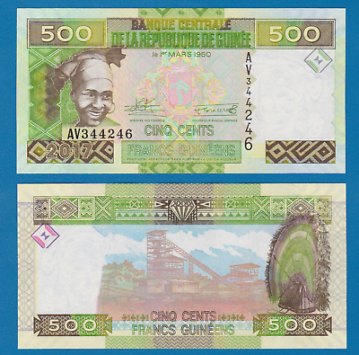 Guinea 500 Francs P 47 New date 2017 UNC Low Shipping! Combine FREE!