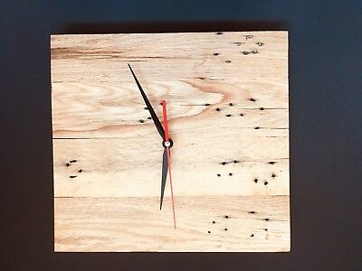 charming rustic wooden wall clock shabby chic. Reclaimed Oak.