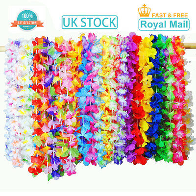 Bulk Buy Lot Hawaiian Flower Garland Lei Necklace Hula Hawaii Aloha Summer Hen