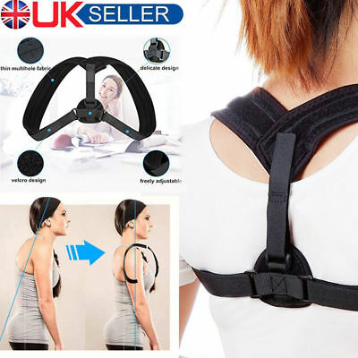 Posture Corrector Back Brace Support Shoulder Belt Adjustable Women Men UK