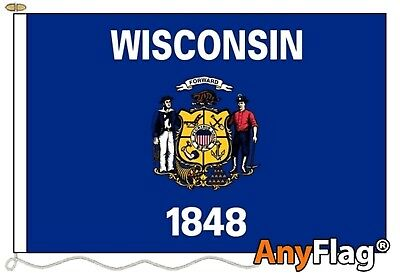 Wisconsin Custom Made To Order Various Flag Sizes