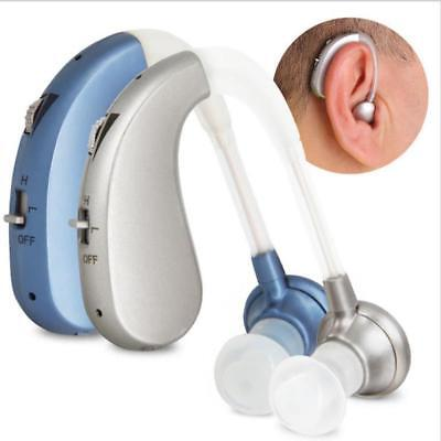 Rechargeable Digital Hearing Aid Severe Loss BTE Ear Aid HIGH-POWER US Plug Gift