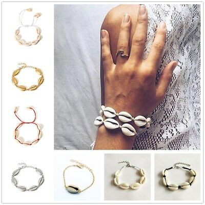 Fashion Boho Women Summer Beach Jewelry Cowrie Sea Shell Bracelet Decor Hot Sale