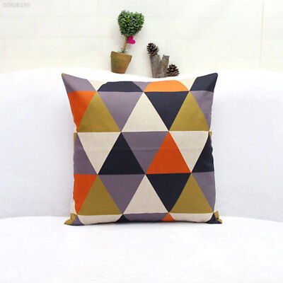 Rhombus Pillow Set Decor Cushion Vintage Cute Toy Doll Particle Orange Gift