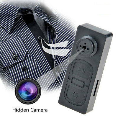 Security Button Pinhole Spy Camera Mini Micro Spy Hidden Cam DVR Video Recorder