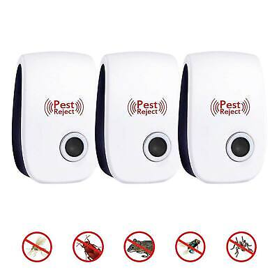 Uk Plug Electronic In Ultrasonic Rodent Pest Fly Repeller Mice Rat Repellent