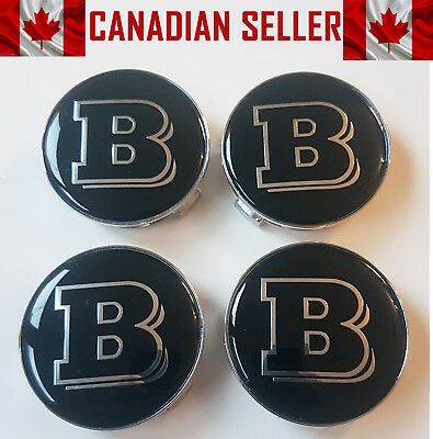 Set of 4 Mercedes Brabus Wheel Center Caps 75mm - FITS ALL MODELS