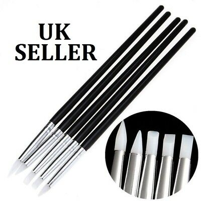5Pcs Silicone Rubber Shaper Polymer Clay Sculpting Modelling Tools Kit UK SELLER