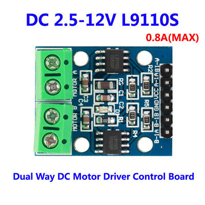 L9110 H-Bridge 3V/9V/12V Dual-way Stepper Motor Drive Controller Board 0.8A