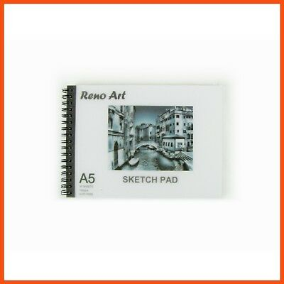 20 x RENO ART ARTIST SKETCH PADS A5 140gsm 30pg Artist Drawing Paper Sketchbook