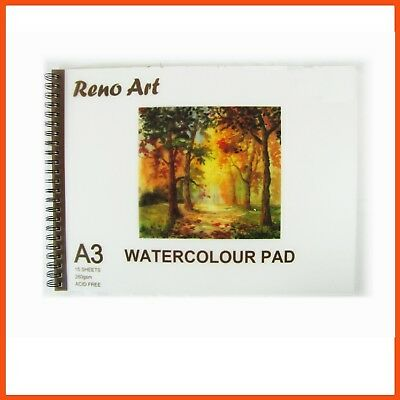 10 x RENO ART WATERCOLOUR PADS A3 280gsm 30pg | Artist Drawing Paper Sketchbook