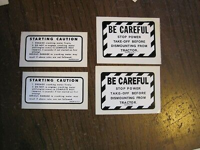 Set of 2 Minneapolis Moline MM Tractors Farm Machinery Decal - 4 Total