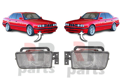 For Bmw 5 E34 1988-1995 New Front Bumper Foglight Lamp Pair Set
