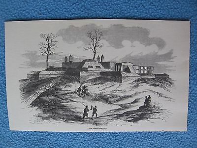 Civil War Print From Harper's Weekly - Fort Negley, Nashville - FRAME IT