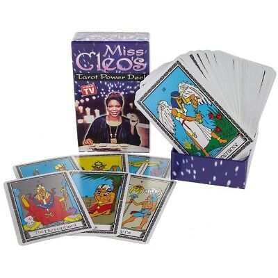 Vintage New Sealed Miss Cleos Power Tarot Deck Egyptian Psychic Divination Deck