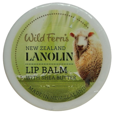 WILD FERNS NEW ZEALAND LANOLIN LIP BALM WITH SHEA BUTTER 18g