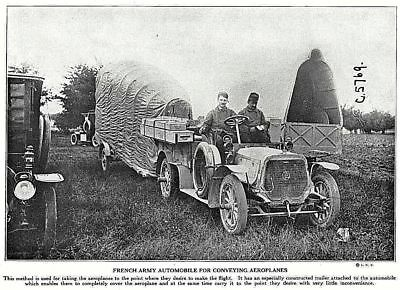 1915 World War 1 French Army Automobile for conveying aeroplanes Photo Print