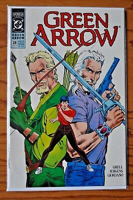 Green Arrow, Issue #28, January, 1990.