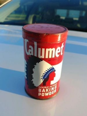 Vintage Calumet The Double Acting Baking Powder Tin Can Empty