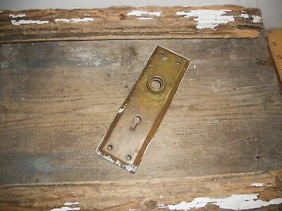 Vtg Aged Rustic Shabby Brass Steampunk Antique Door Knob Back Plate Art/crafts