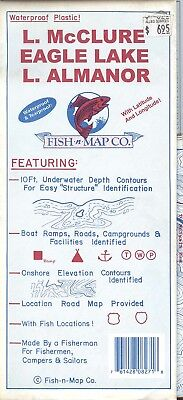 Fish-n-Map Co. McCLURE EAGLE LAKE ALMANOR California
