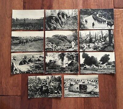 11 WWI Postcards  - The Chicago Daily News War Postals - World War One