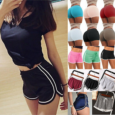Women's Sports Fitness Gym Yoga Shorts Summer Running Casual Hot Pants Bottoms