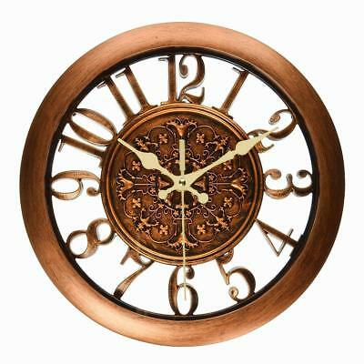 Vintage Silent Wall Clock Living Room Clocks with Novelty Hollow Design