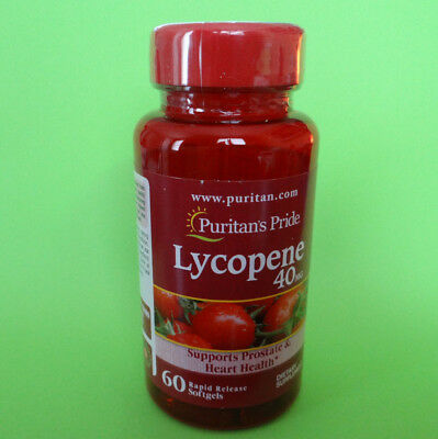 Puritan's Pride Lycopene 40mg 60 softgels sealed support prostate& heart health