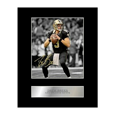Drew Brees Signed Mounted Photo Display New Orleans Saints