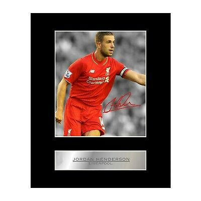 Jordan Henderson Signed Mounted Photo Display Liverpool FC