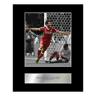 Mohamed Mo Salah Signed Mounted Photo Display Liverpool FC