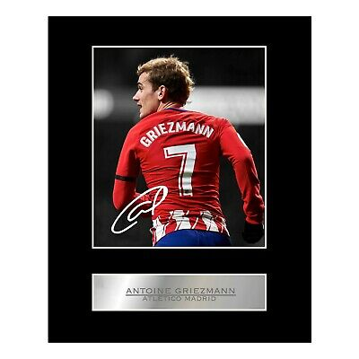 Antoine Griezmann Signed Mounted Photo Display Atlético Madrid