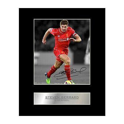 Steven Gerrard Signed Photo Display Liverpool