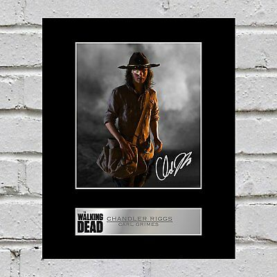 Chandler Riggs, Carl Grimes Signed Mounted Photo Display The Walking Dead #1
