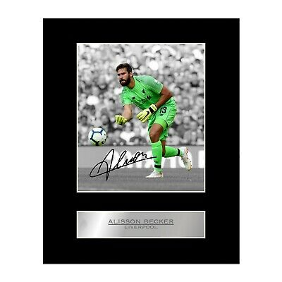 Alisson Becker Signed Mounted Photo Display Liverpool FC