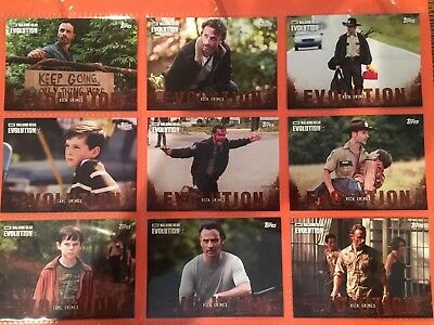 Topps The Walking Dead Evolution Brown Parallel Base Set (1-100)