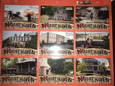 The Walking Dead Evolution No Safe Haven Complete Insert Set (NSF1-NSF9)
