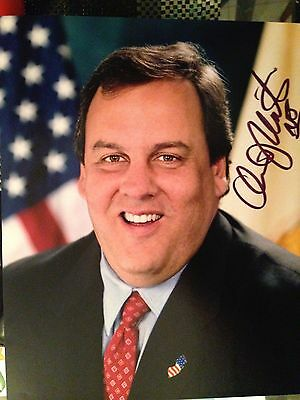 Signed Criss Christy 8x10 Photo Gov of New Jersey And Worst Gov. In The America