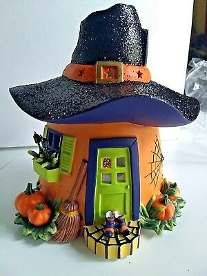 partylite pumpkin witch house tealight house nib p8209 halloween collection